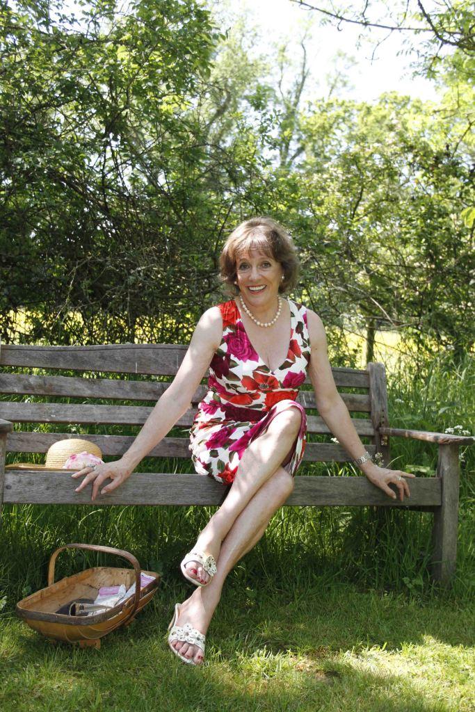 Esther in her cottage garden. Photo Hattie Miles