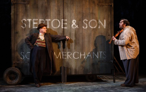 Mike Shepherd as Albert and Dean Nolan as Harold in Steptoe and Son