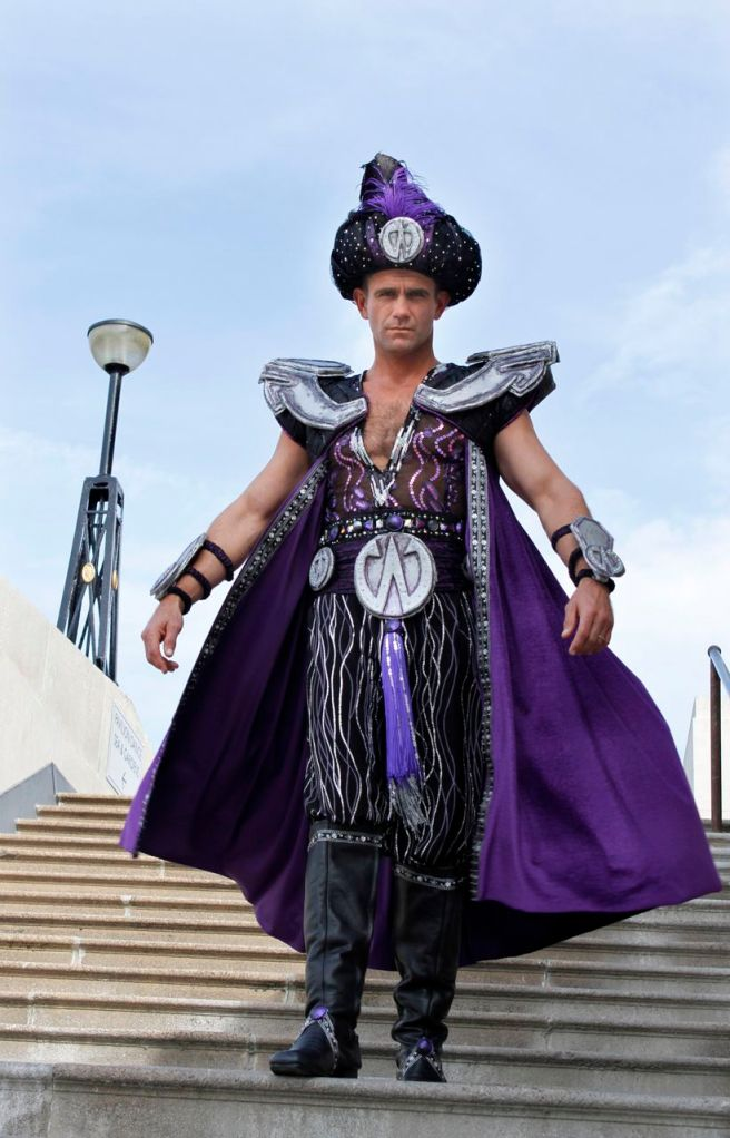 What not to wear in the Queen Vic. EastEndders Scott Maslen as Abanazar. Picture by Hattie Miles