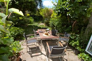The Livingston garden from the ktchen/breakfast room