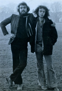 Simon (right)  and me 44 years ago