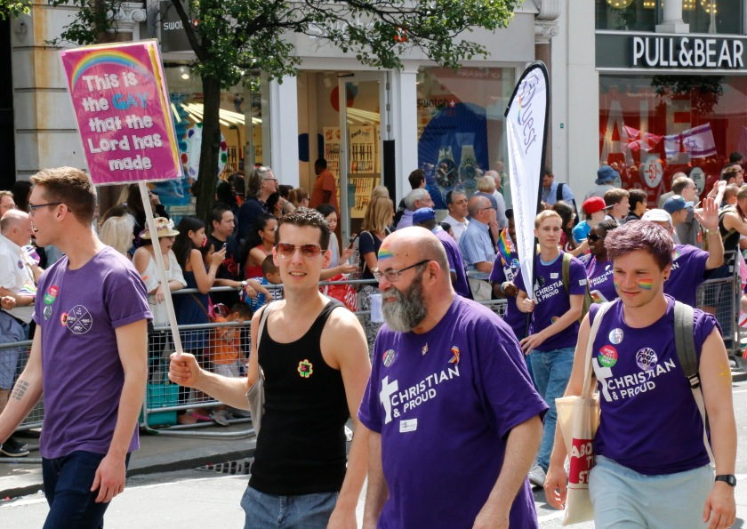 A large Christian presence challenging homophobia in the Church