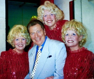Max Bygraves copy pictures from his personal collection: Max with the Beverley Sisters