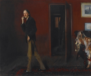 John Singer Sargent's strange 1885 painting of Stevenson and his wife Fanny