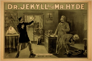 A vintage Jekyll and Hyde poster