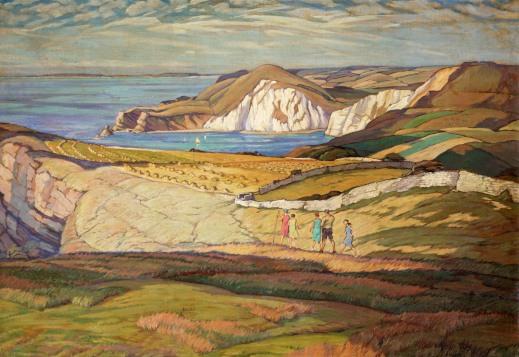 1Philip Leslie Moffat Ward A Dorset Landscape or Near Warbarrow Bay Dorset 1930.jpg